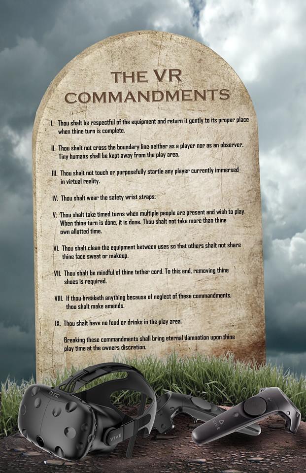 VR Commandments